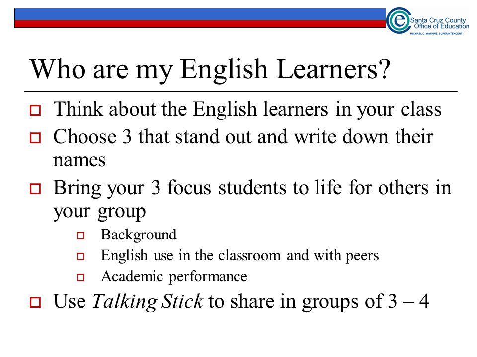 Who are my English Learners