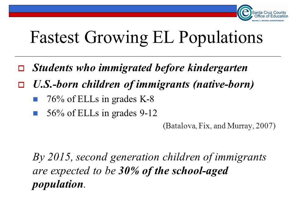 Fastest Growing EL Populations