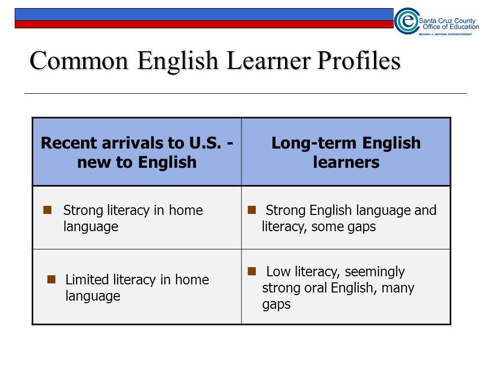 Common English Learner Profiles