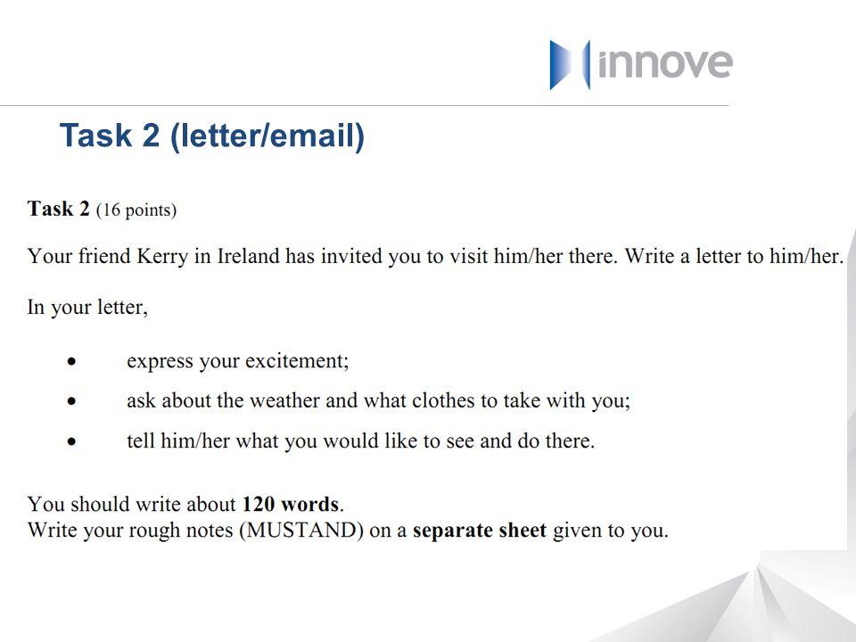 Task 2 (letter/email)