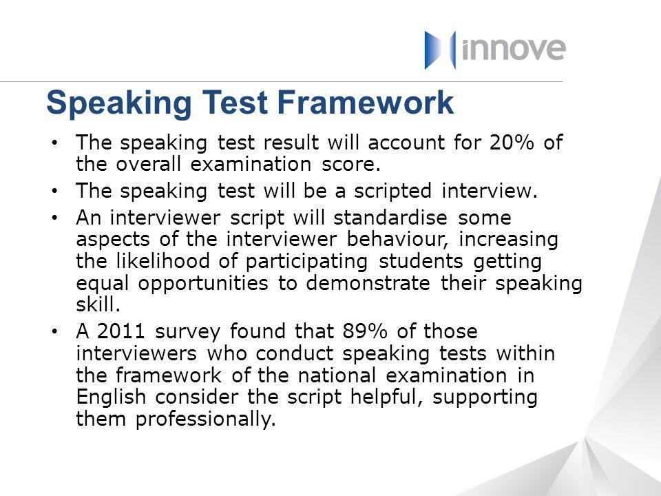Speaking Test Framework