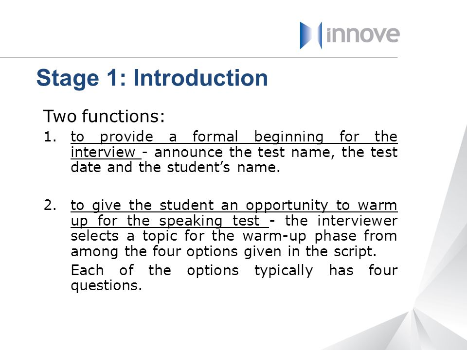 Stage 1: Introduction Two functions: