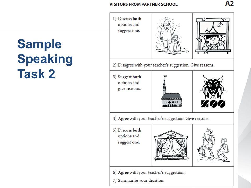 Sample Speaking Task 2