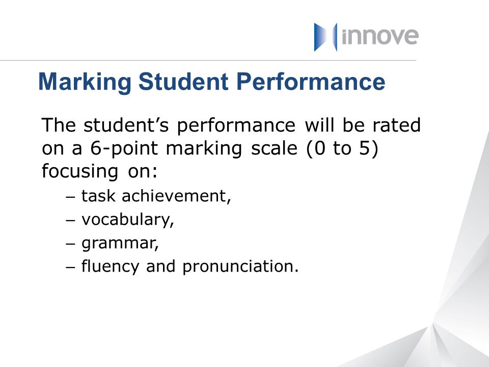Marking Student Performance