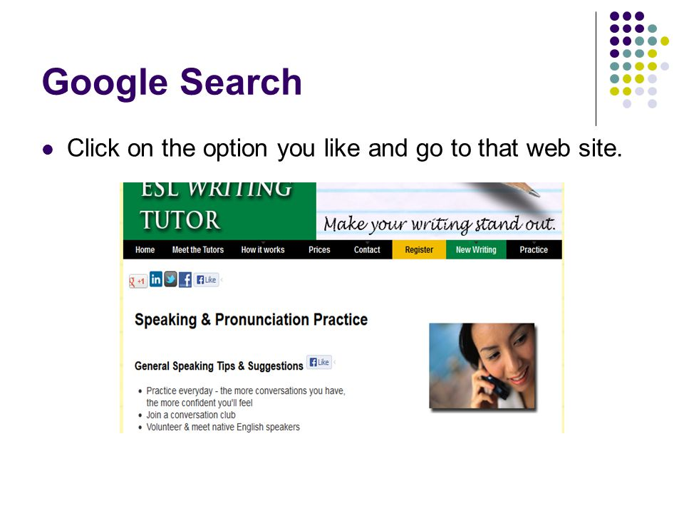 Google Search Click on the option you like and go to that web site.