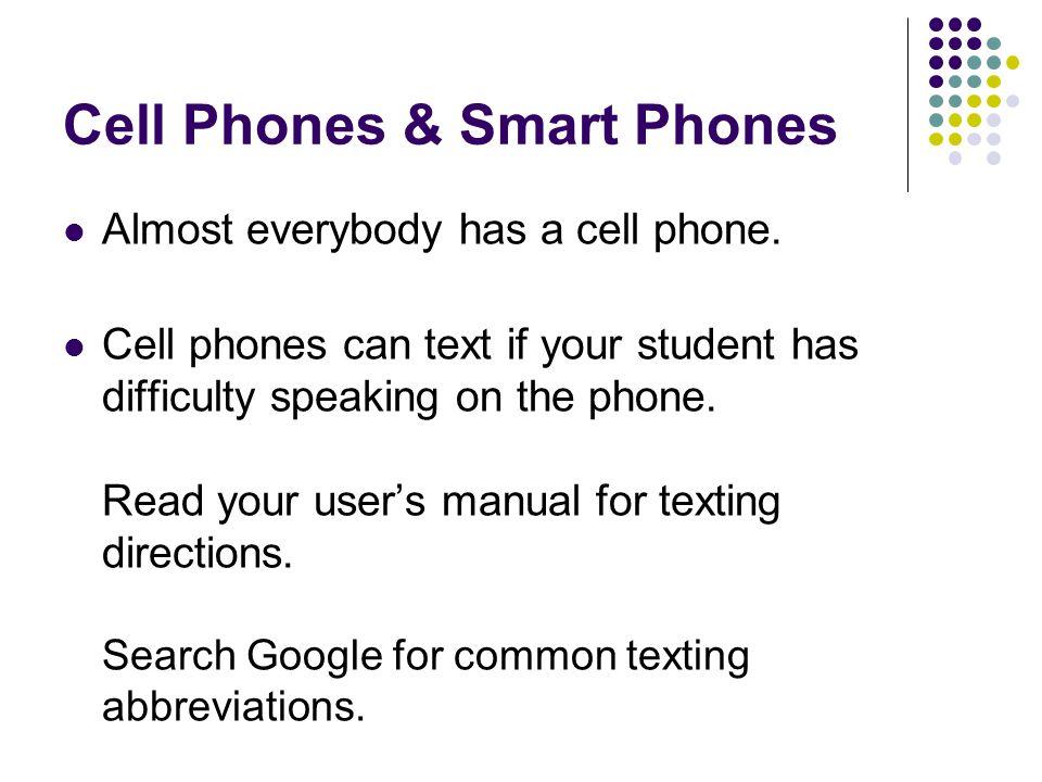 Cell Phones & Smart Phones