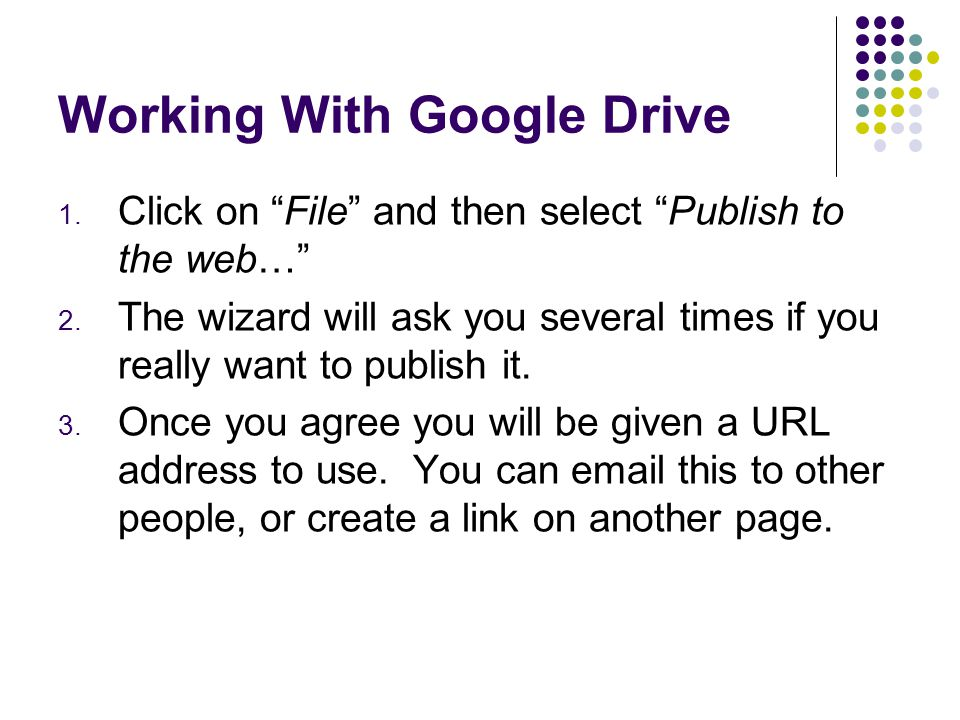 Working With Google Drive