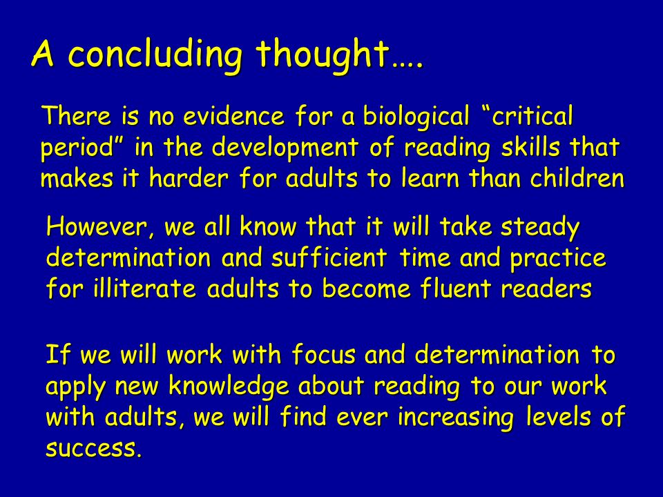 A concluding thought….