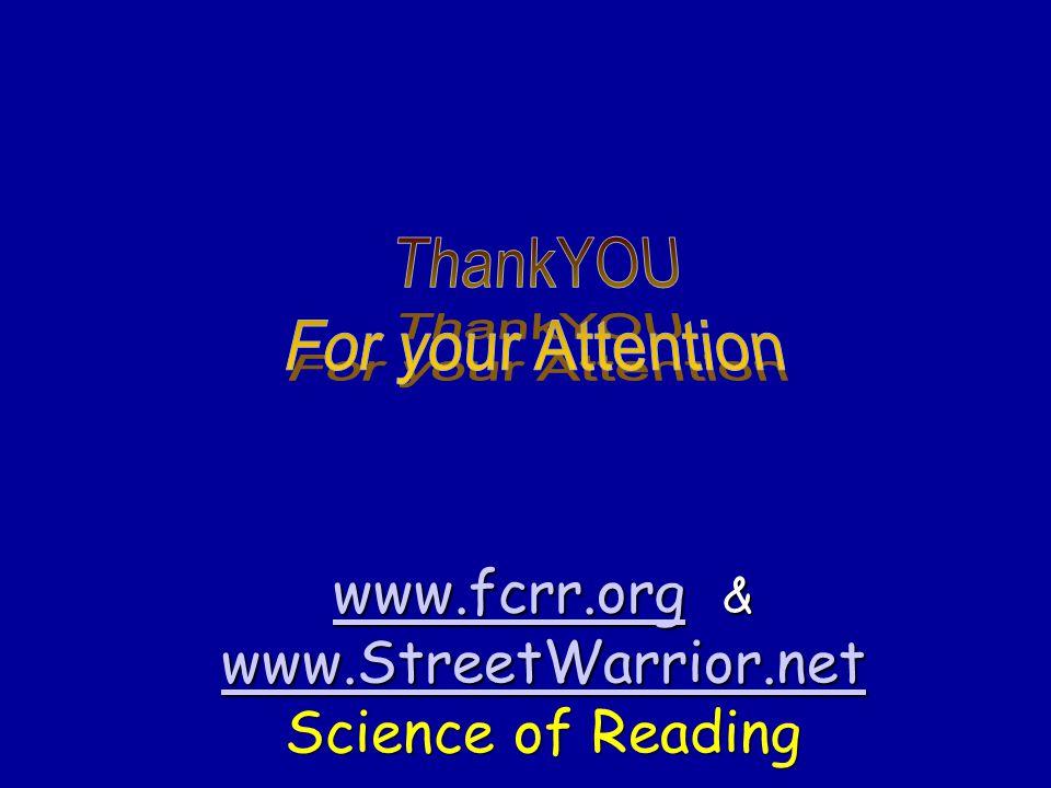 www.fcrr.org & www.StreetWarrior.net