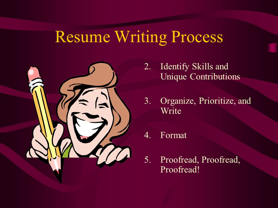 Resume Writing Process