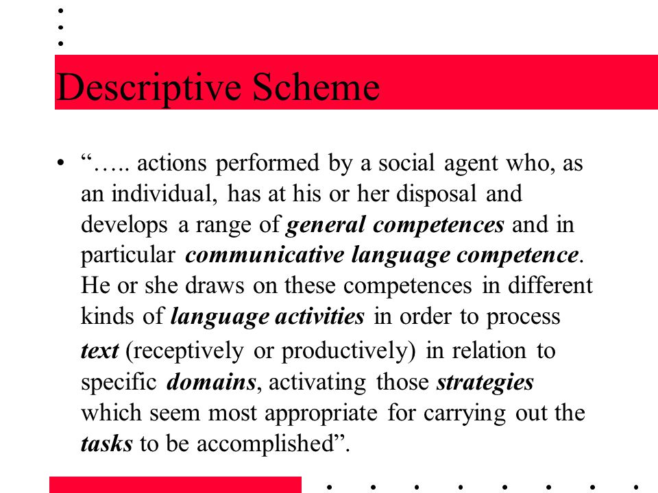 Descriptive Scheme