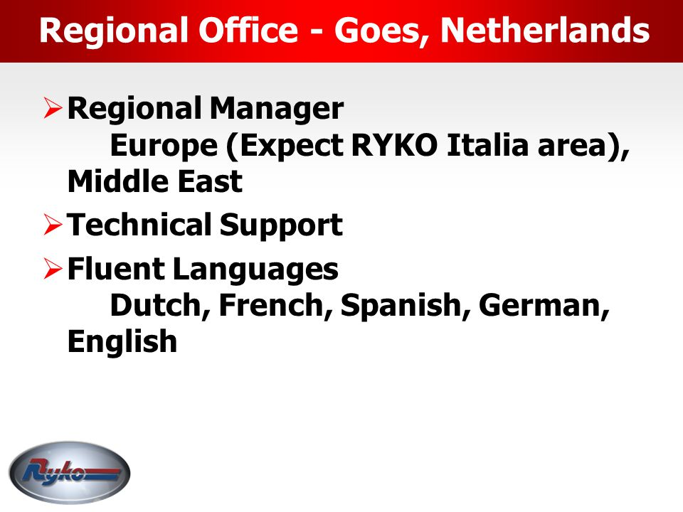 Regional Office - Goes, Netherlands