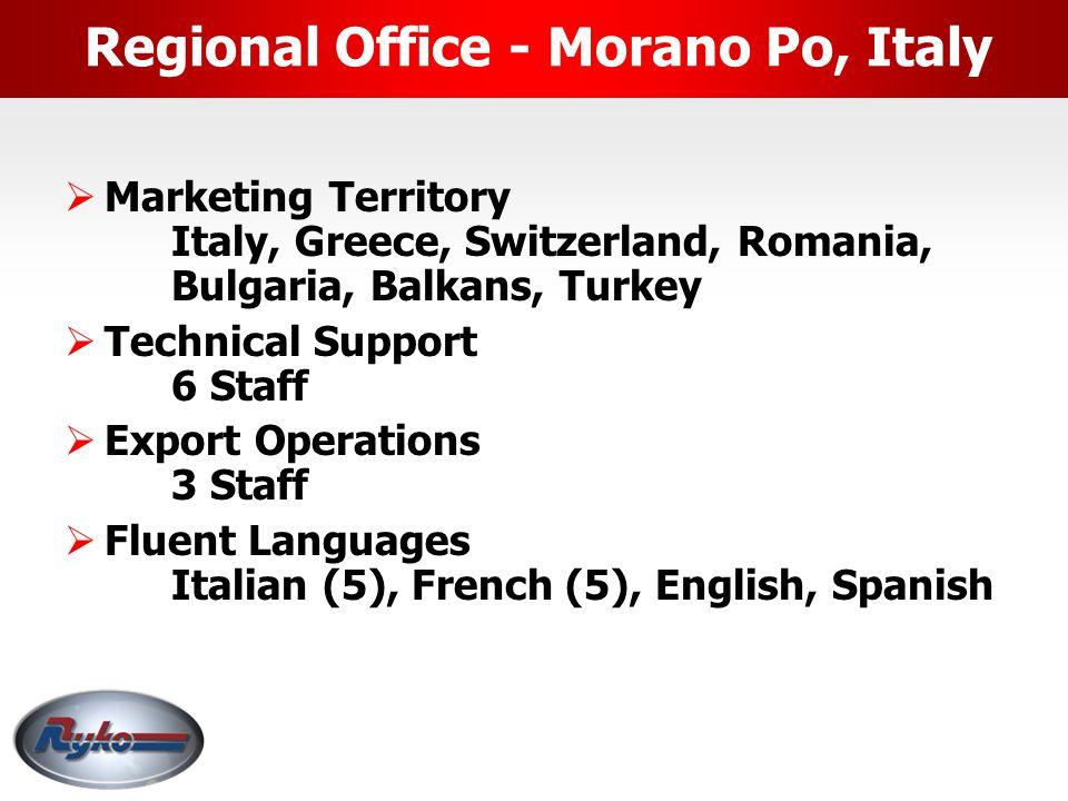 Regional Office - Morano Po, Italy