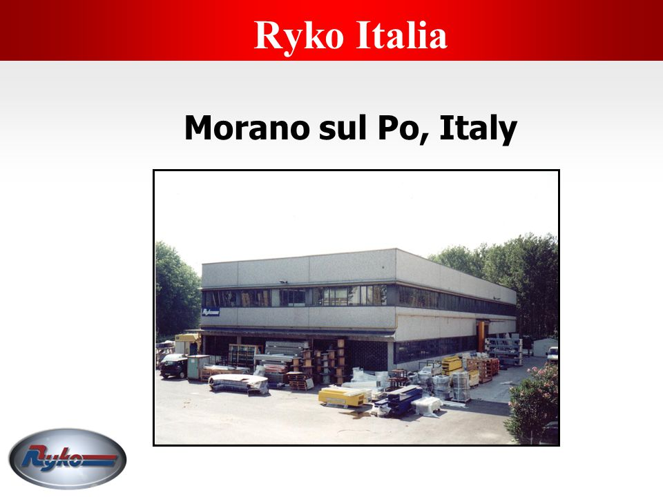Ryko Italia Morano sul Po, Italy