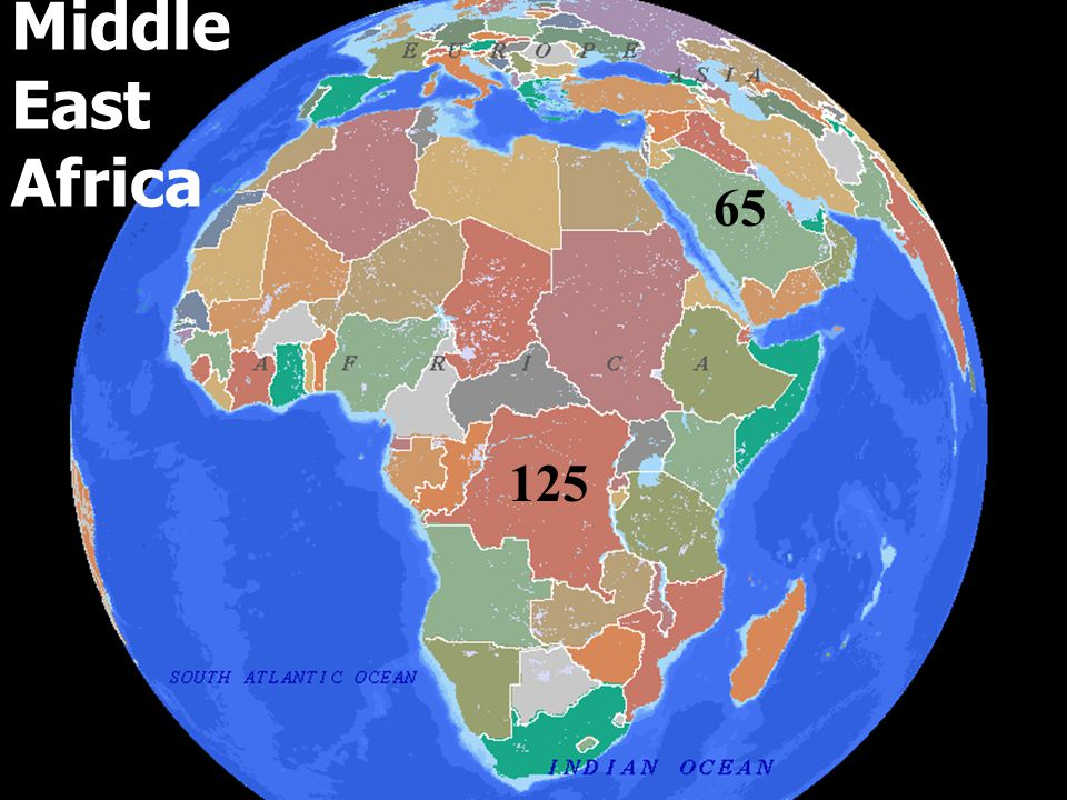 Middle East Africa 65 125