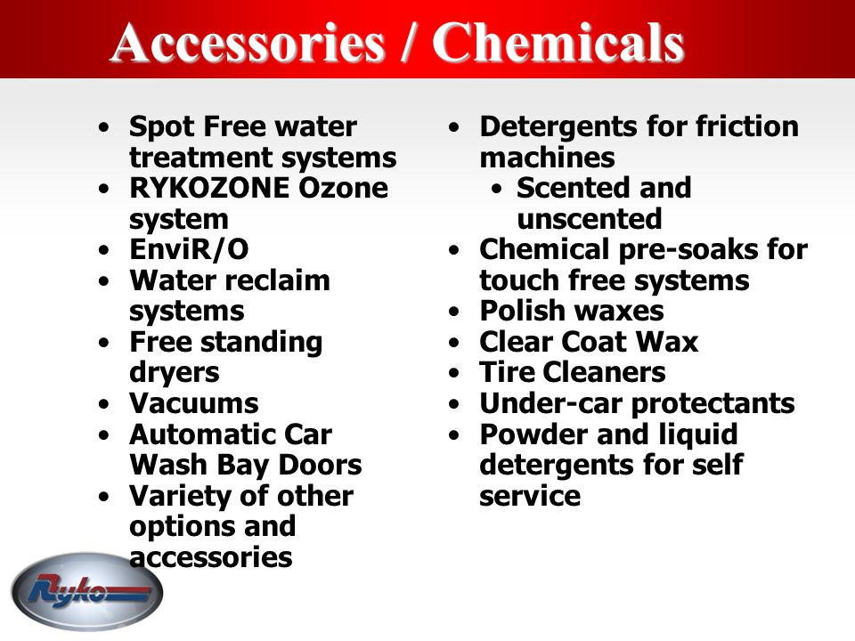 Accessories / Chemicals