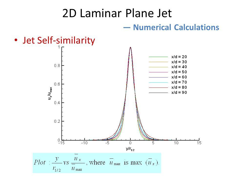 2D Laminar Plane Jet ― Numerical Calculations