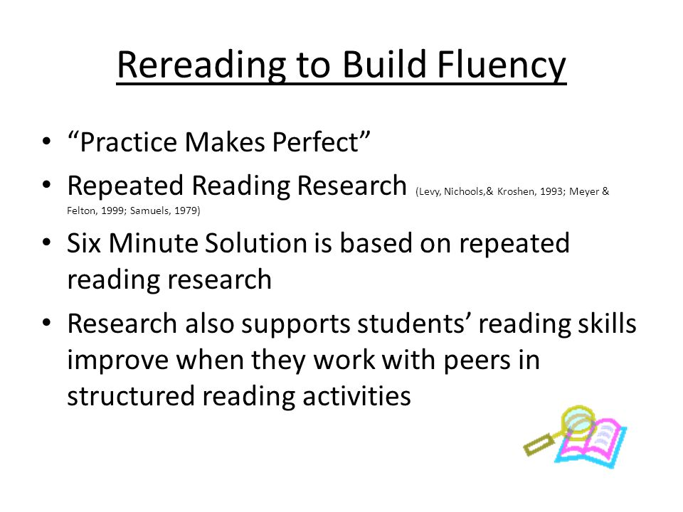 Rereading to Build Fluency
