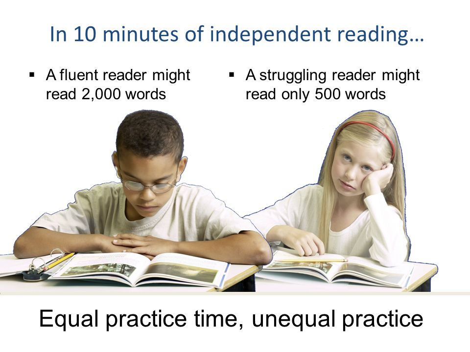 In 10 minutes of independent reading…