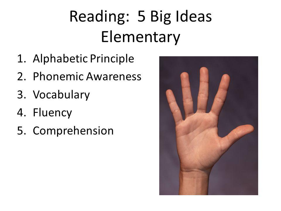 Reading: 5 Big Ideas Elementary