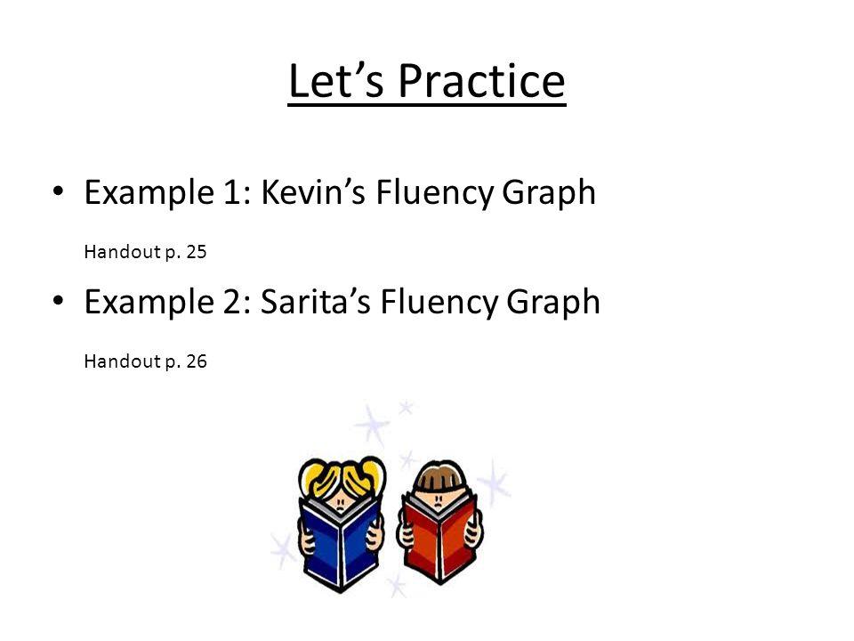 Let's Practice Example 1: Kevin's Fluency Graph Handout p. 25