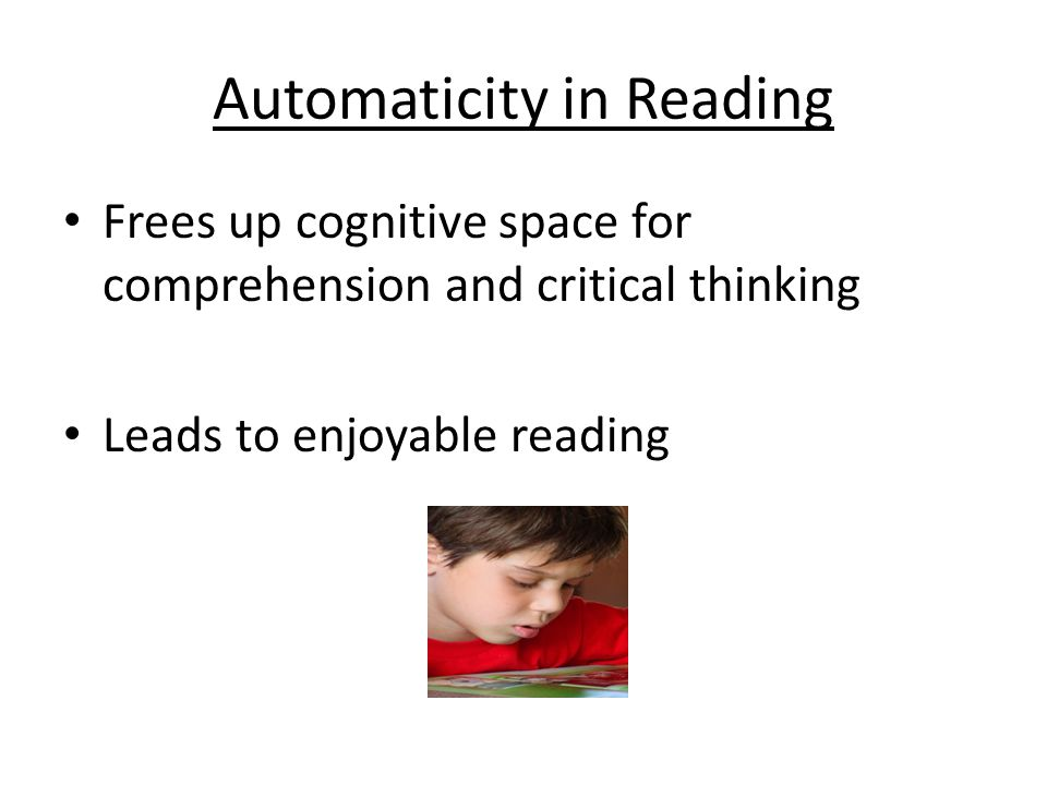 Automaticity in Reading