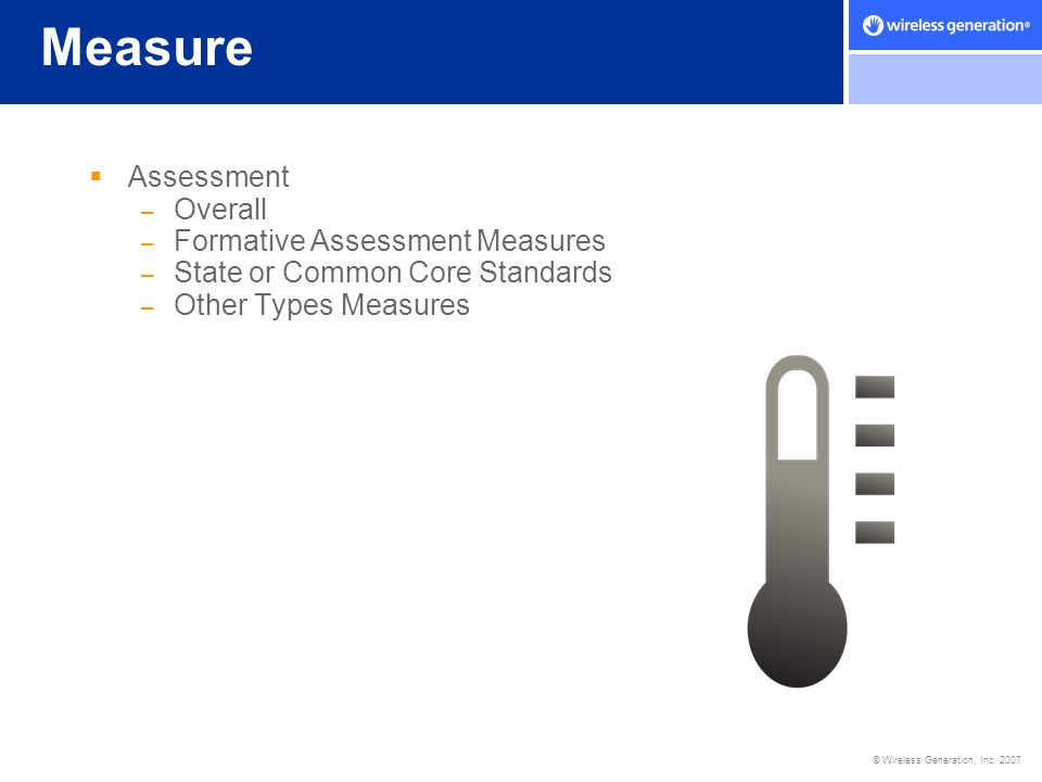 Measure Assessment Overall Formative Assessment Measures