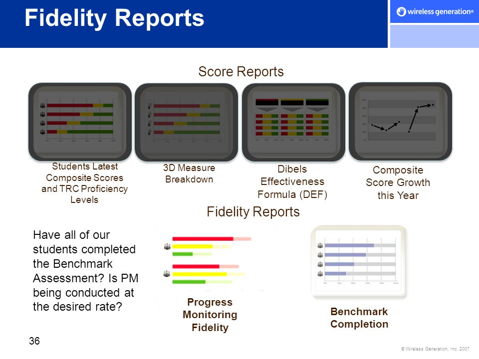 Progress Monitoring Fidelity