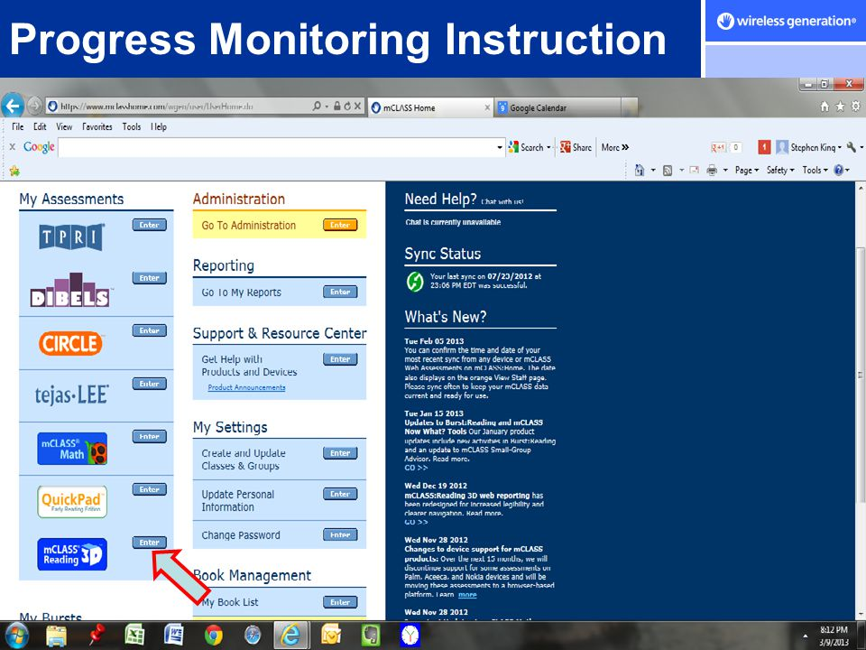 Progress Monitoring Instruction