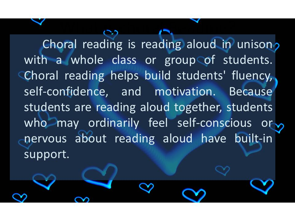 What is choral Reading