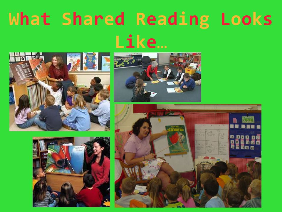 What Shared Reading Looks Like…