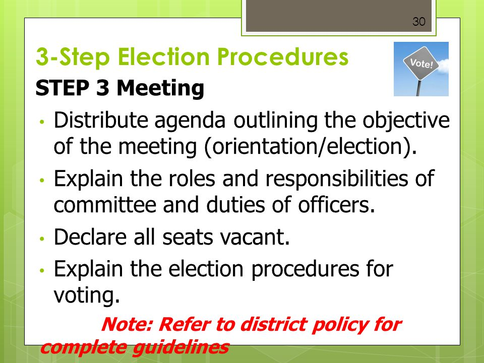 3-Step Election Procedures
