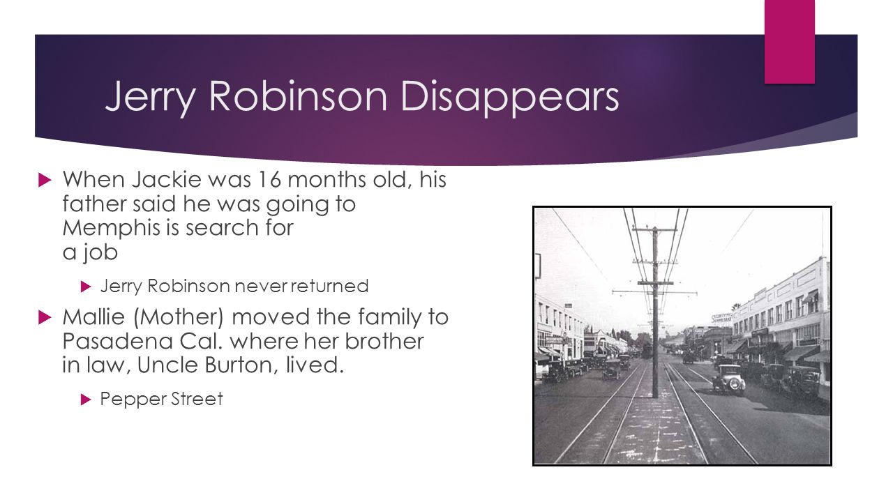 Jerry Robinson Disappears