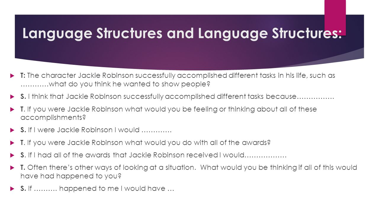 Language Structures and Language Structures: