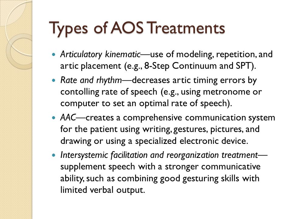 Types of AOS Treatments