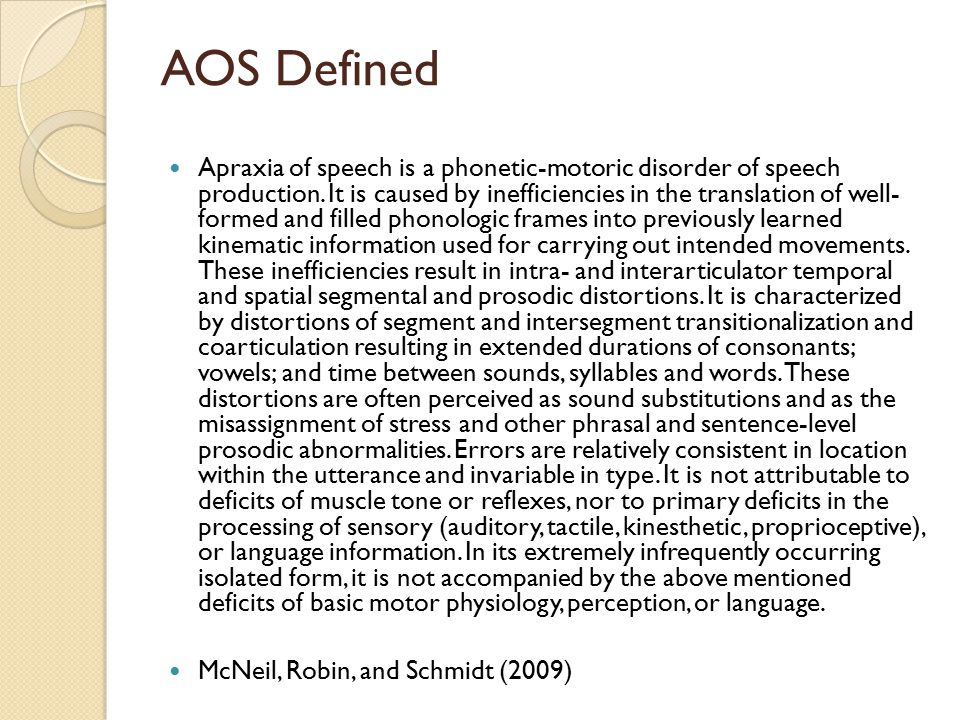 AOS Defined