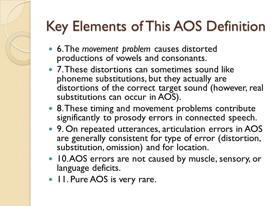 Key Elements of This AOS Definition