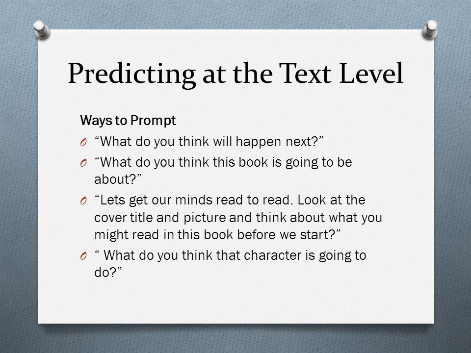 Predicting at the Text Level