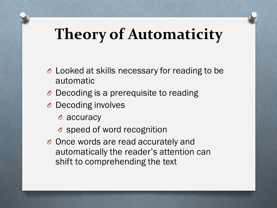Theory of Automaticity