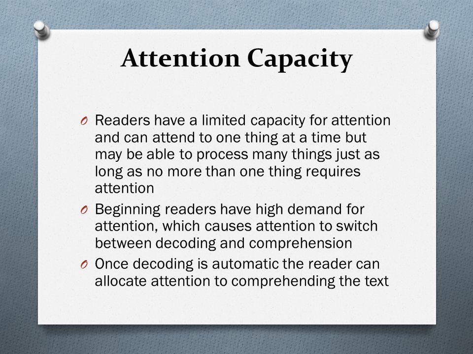Attention Capacity