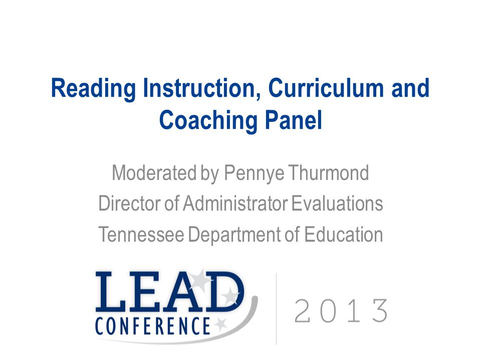 Reading Instruction, Curriculum and Coaching Panel