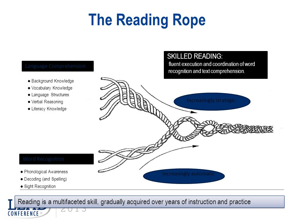 The Reading Rope SKILLED READING: