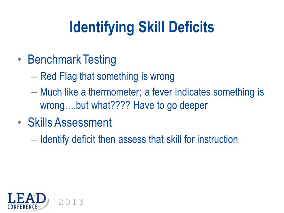 Identifying Skill Deficits