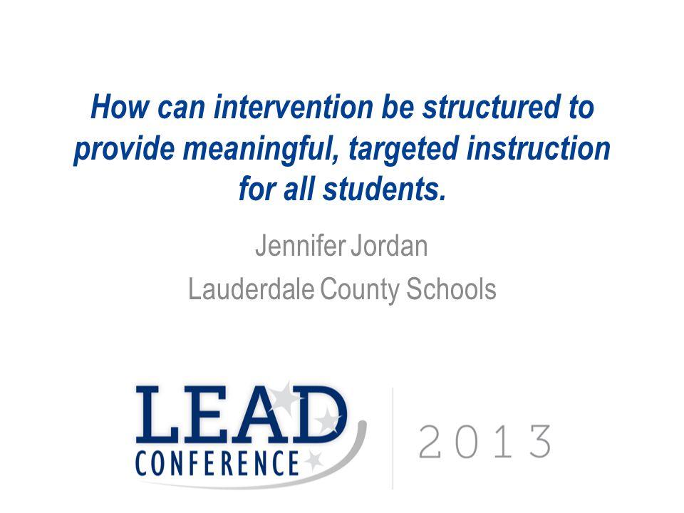 Jennifer Jordan Lauderdale County Schools