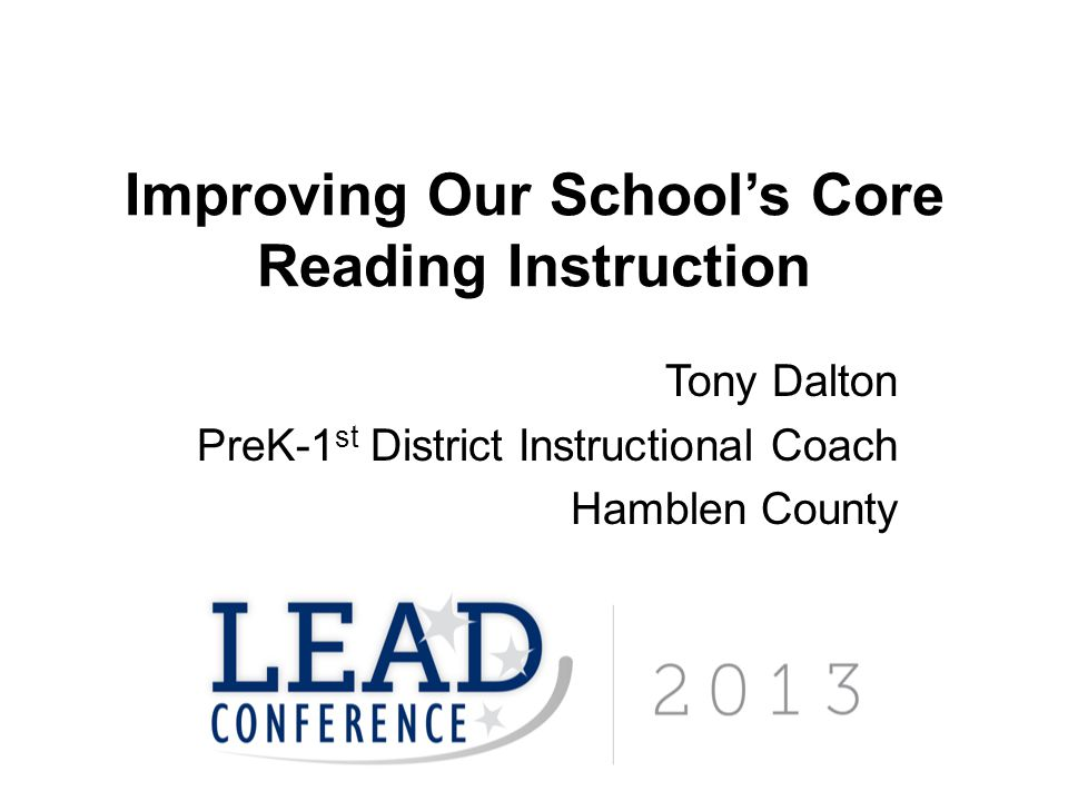 Improving Our School's Core Reading Instruction
