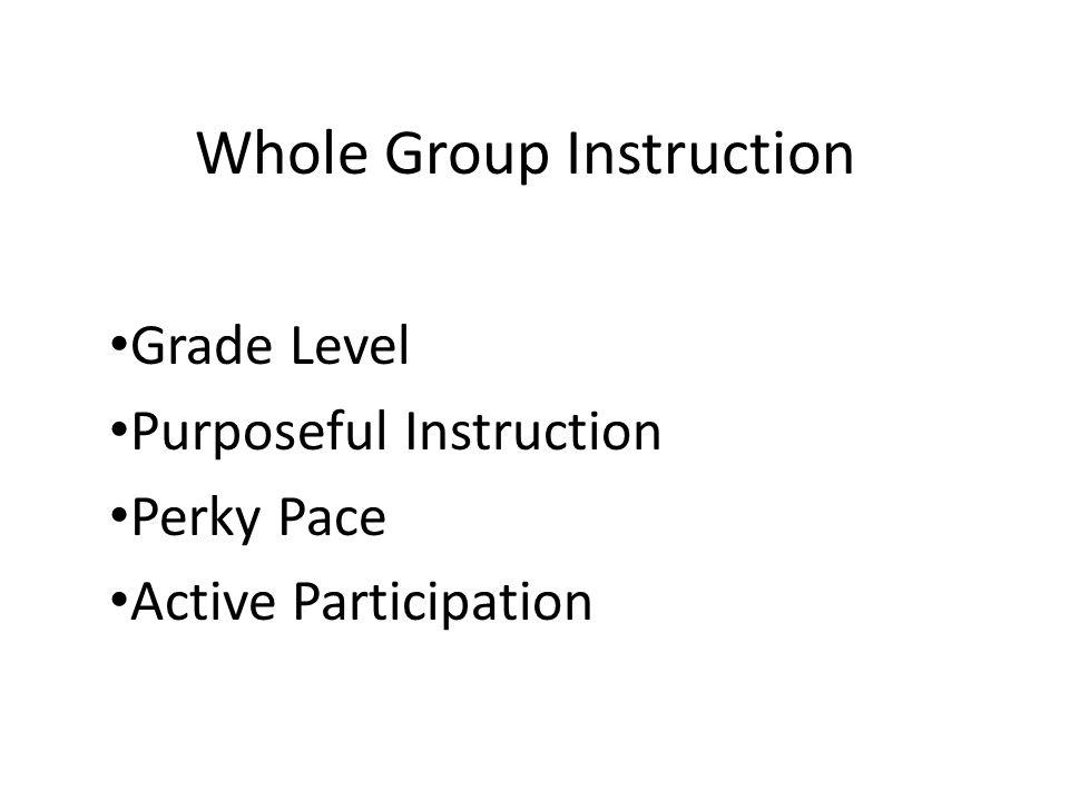 Whole Group Instruction