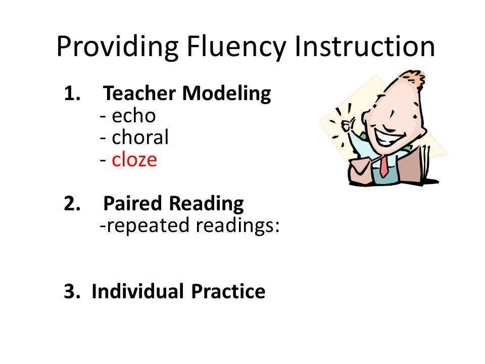 Providing Fluency Instruction
