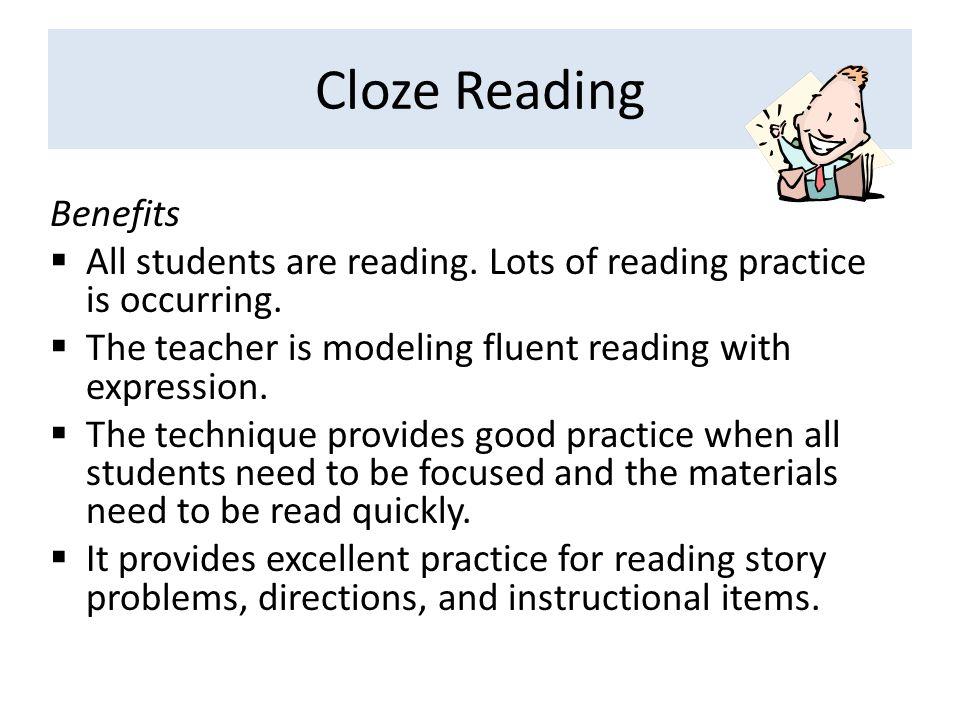 Cloze Reading Benefits
