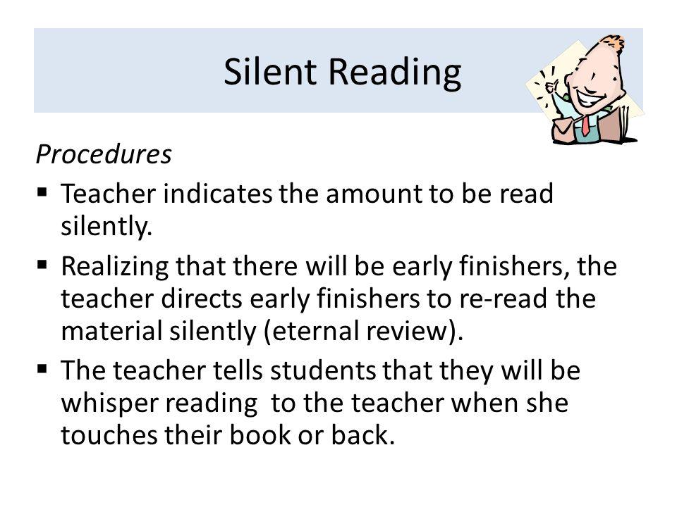 Silent Reading Procedures
