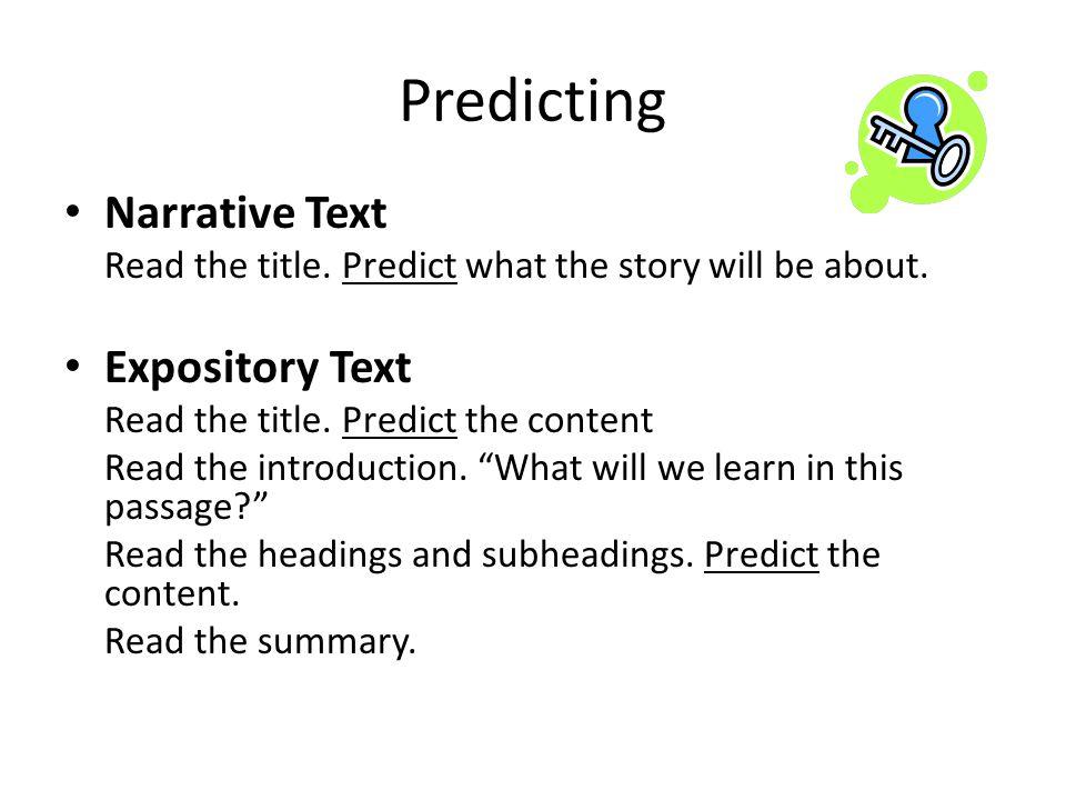 Predicting Narrative Text Expository Text